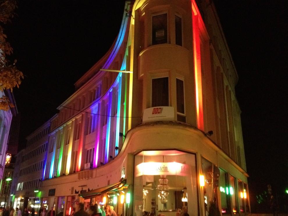 recklinghausen leuchtet cafe eckstein beleuchtet